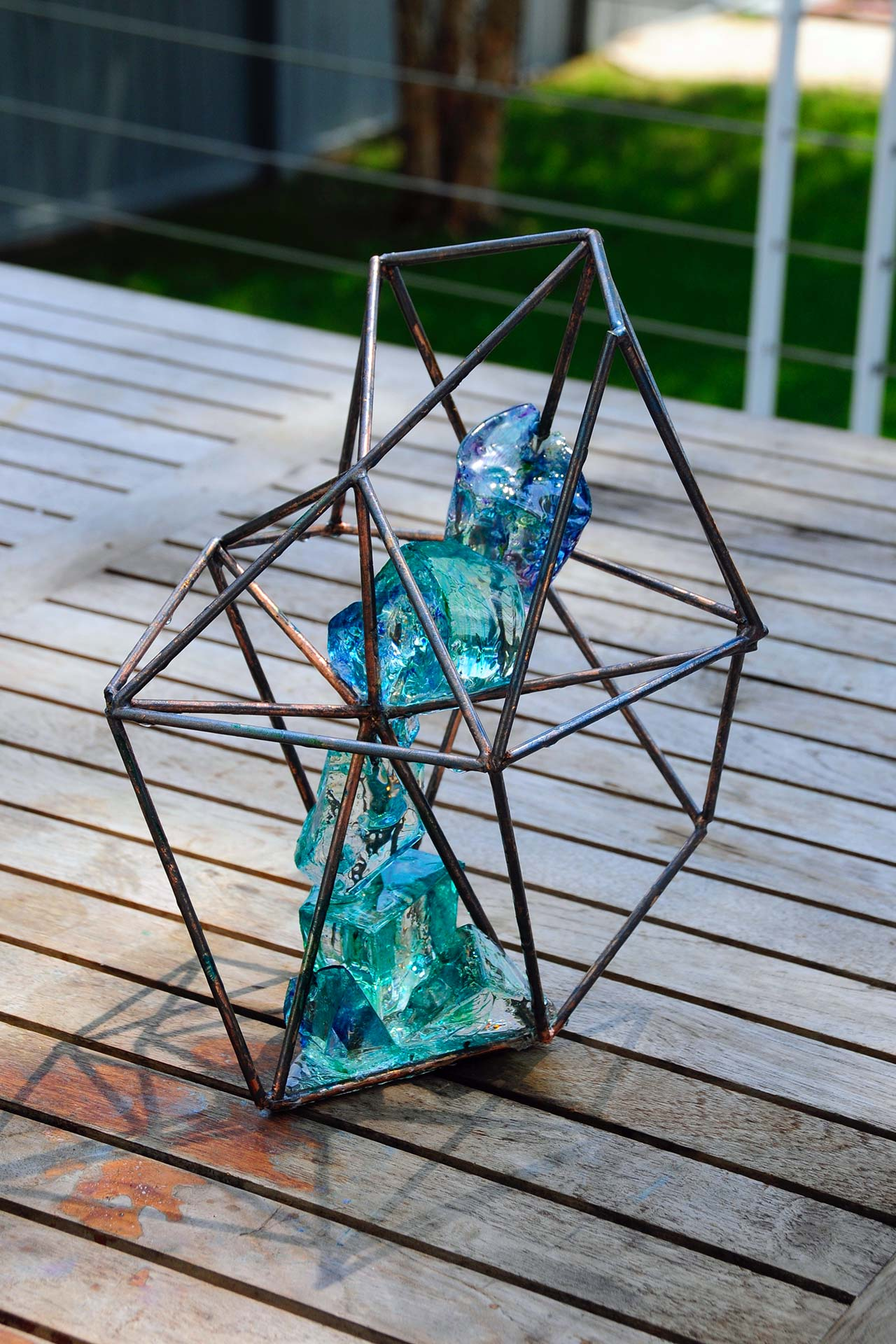 Crystal Geometric Sculpture