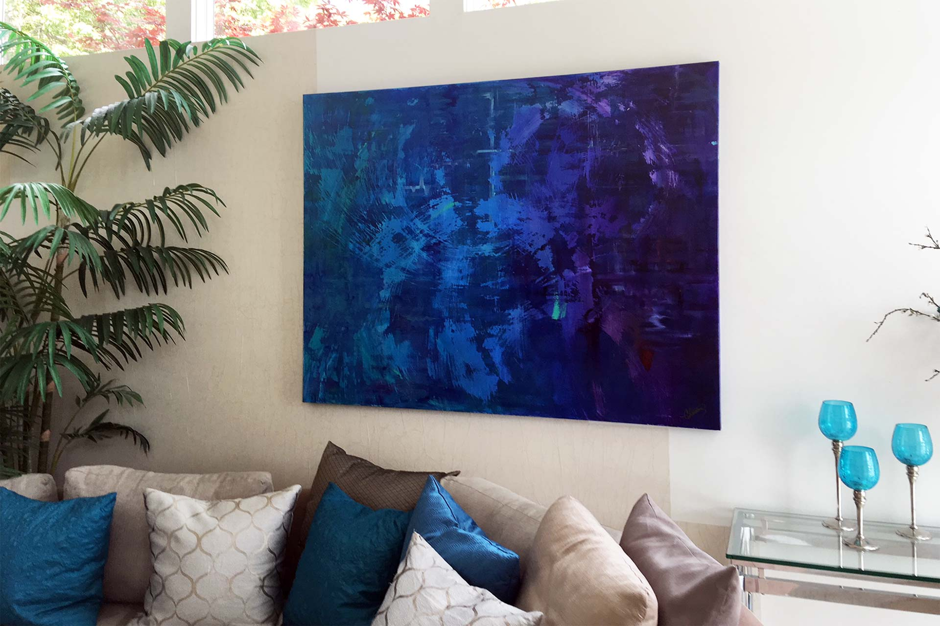 Abstract in Blue and Purple
