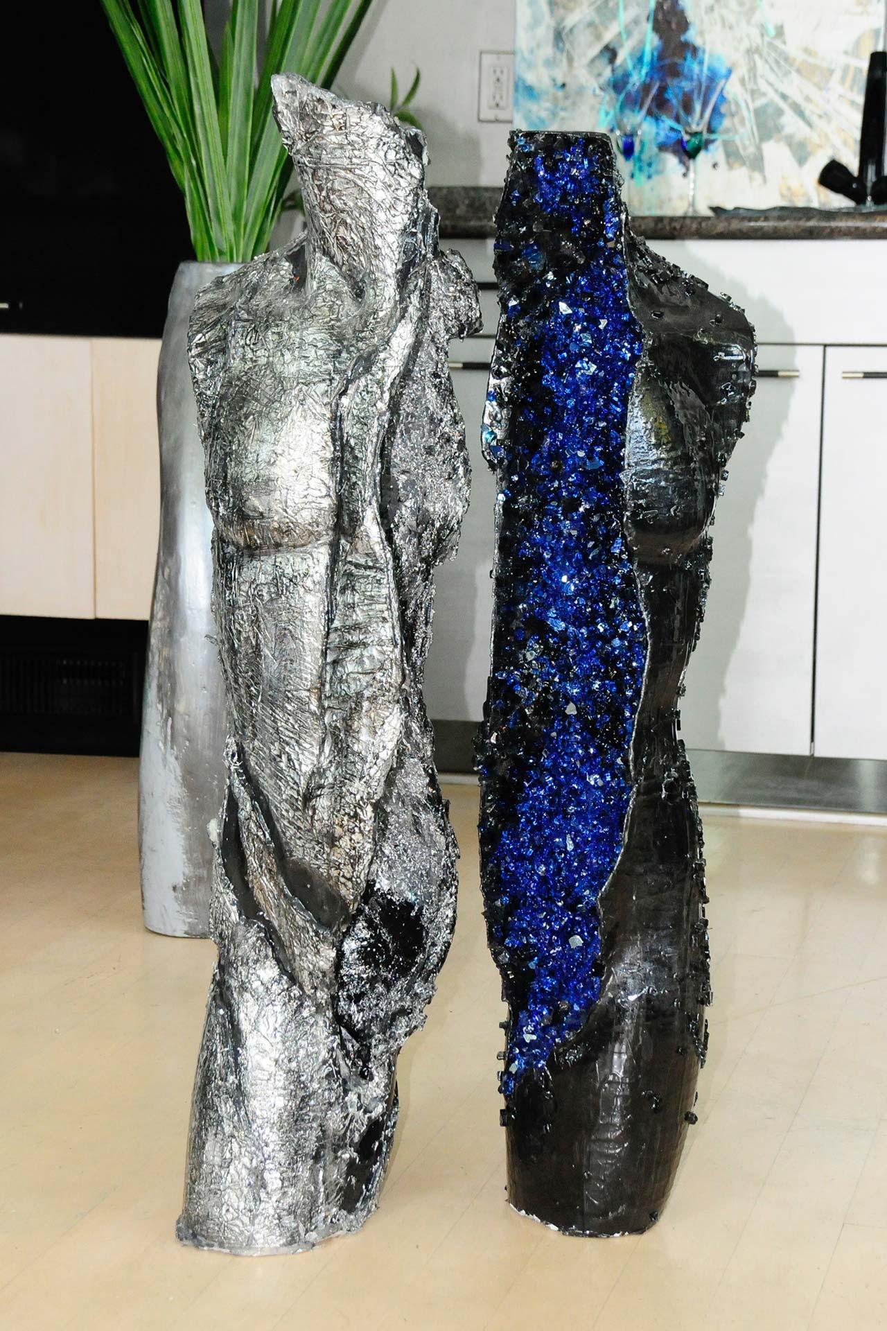 Silver Cobalt Geode Torso