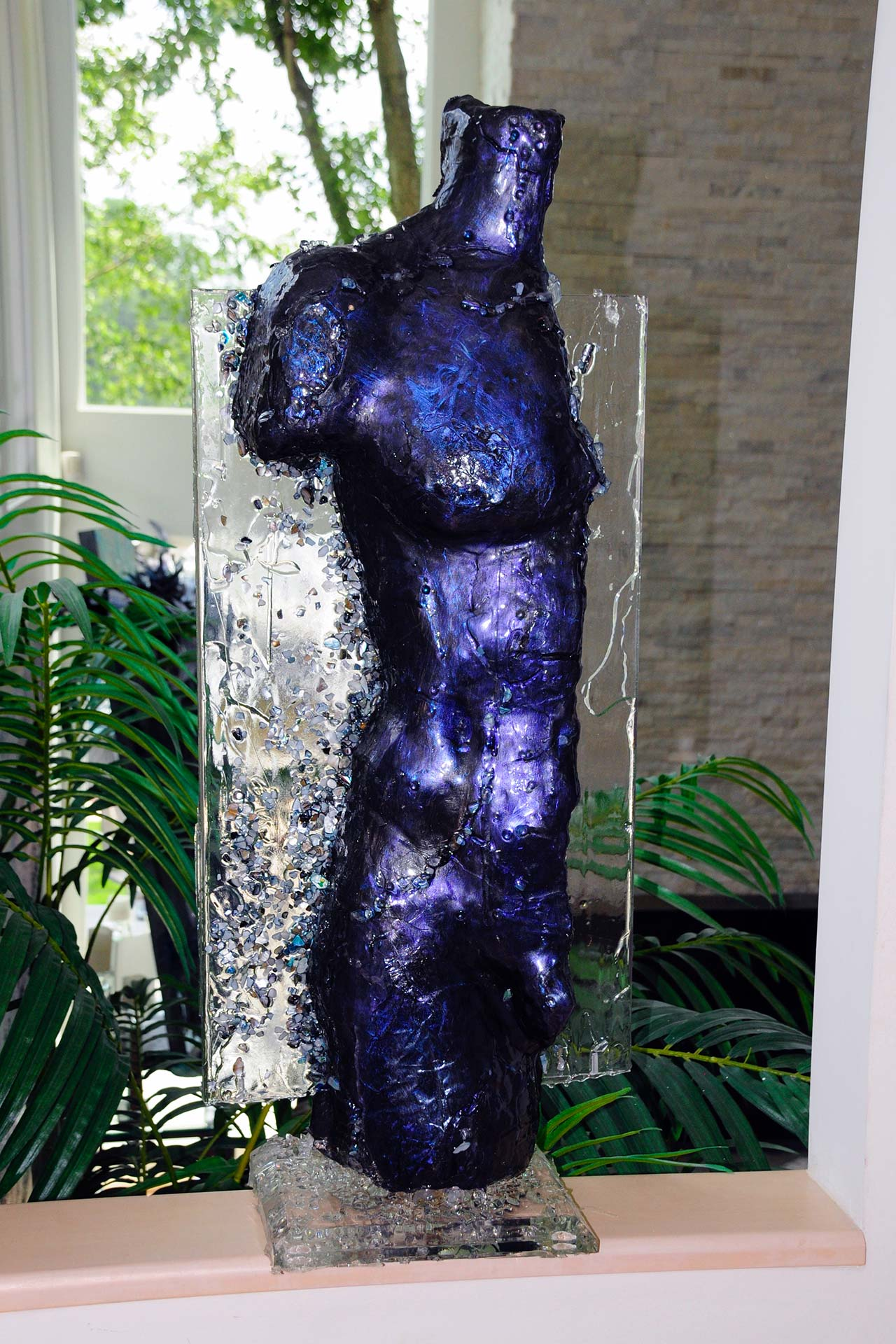 Purple Metallic Geode Torso