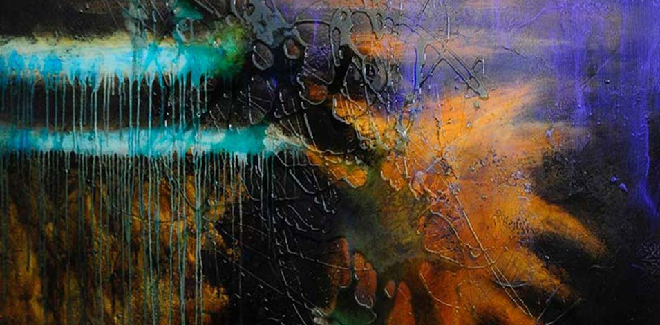 Painting with resin